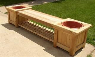 diy wood planter bench plans wooden  build woodworking workbench plantersgardening tips
