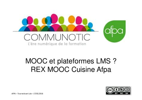 afpa formation cuisine mooc et lms rex mooc cuisine afpa webinar communautic