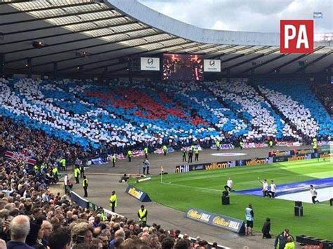 rangers bears union display ultras tifo hibernian scottish cup final