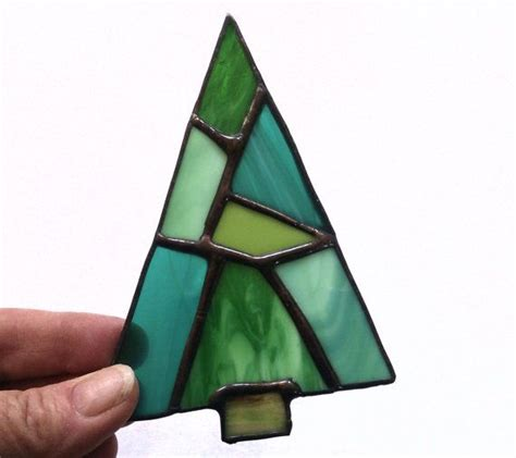 ornament christmas tree stained glass