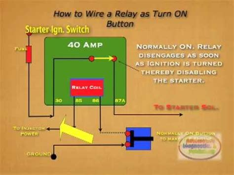 how to wire relay starter kill switch youtube