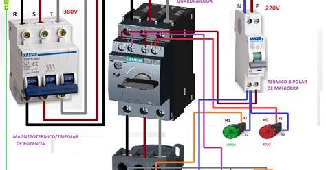 motor trifasico maniobra guardamotor contactor esquemas el 233 ctricos
