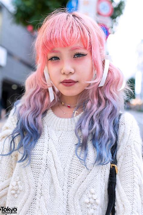 Ombre Pink And Purple Hair Pastel Hair Dip Dye Hair