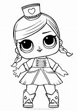 Lol Coloring Dolls Pages Doll Painting sketch template