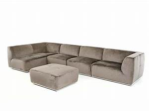 contemporary grey fabric sectional sofa vg389 fabric With grey sectional sofa