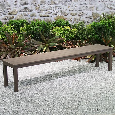 ventura backless bench terra patio