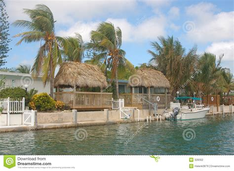 Water Front Tiki Huts Stock Photo. Image Of Ocean, House