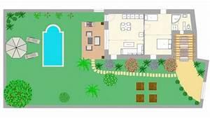 plan maison gratuit avec archifacile dessinez vos plans With dessin de maison en 3d 4 croquis de jardin en ligne pour petit jardin terrasse