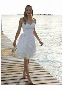 Luxurious and gorgeous short lace beach wedding dresses for Short white beach wedding dresses