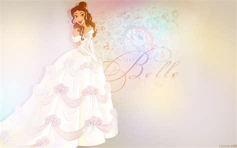 Disney Princess Images Belle's Wedding Dress Hd Wallpaper