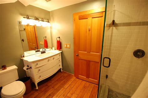 rustic bathroom remodel saugatuck mi west michigan
