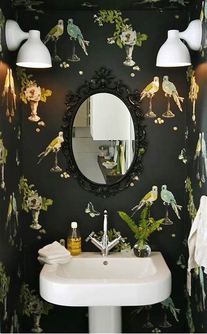 Bathrooms Bathroom Wallpapered Nature Gorgeous