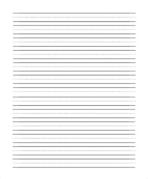 Handwriting Lines Template by 9 Lined Paper Pdf Sles Sle Templates