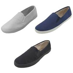 6 Deck Shoe by Mens Canvas Loafers Sneakers Slip On Fashion Twin Gore