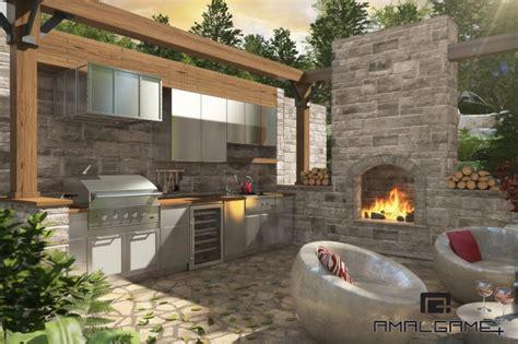 3d cuisine réalisations cuisine exterieure