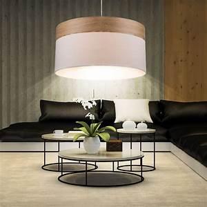 Lampen Für Hohe Schräge Decken : design h ngelampe mit textil lampenschirm in braun lampen m bel r ume wohnzimmer ~ Sanjose-hotels-ca.com Haus und Dekorationen