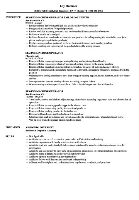 Resume Machine Operator by Machine Operator Resume Exles Bijeefopijburg Nl