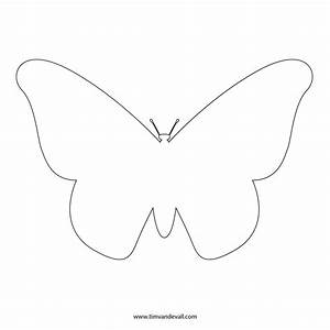 Free butterfly stencil monarch butterfly outline and silhouette for Butterfly template to print
