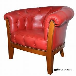 Fauteuil Cuir Rouge : fauteuil club preston fauteuil club cuir de basane pleine ~ Teatrodelosmanantiales.com Idées de Décoration