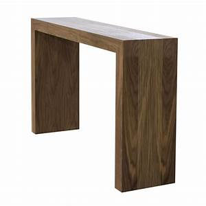 Light walnut console table from the urban collection by for Sectional sofa console table
