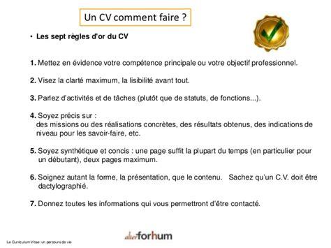 Cv Exles Francais by 02 Printemps Emploi 2014 Cv