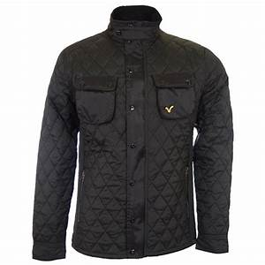 Voi Jeans Pulse Quilted Body Black Jacket - Voi Jeans from N22 Menswear UK