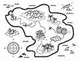 Treasure Coloring Map Pages Printable Pirate Maps Template Museprintables Printables Drawing Preschool Pdf Schatzkarte Paper Format Visit Letter Themes Colorir sketch template