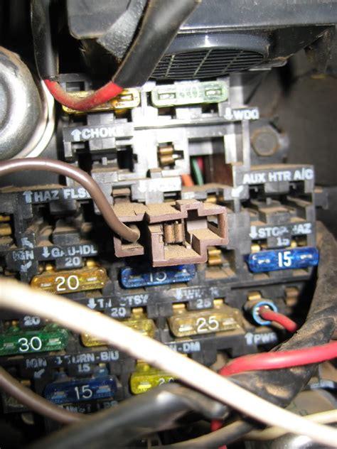 1982 Chevy Silverado Fuse Box 1982 gmc fuse box electrical auto wiring diagram