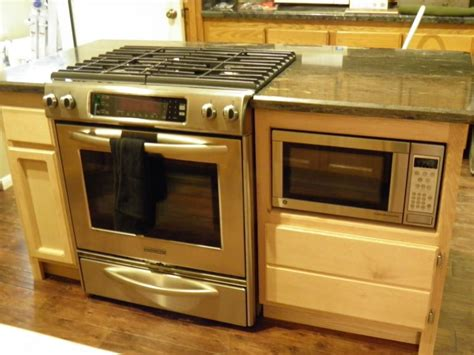 kitchen island range oven and cooktop in island 30 quot stainless steel slide