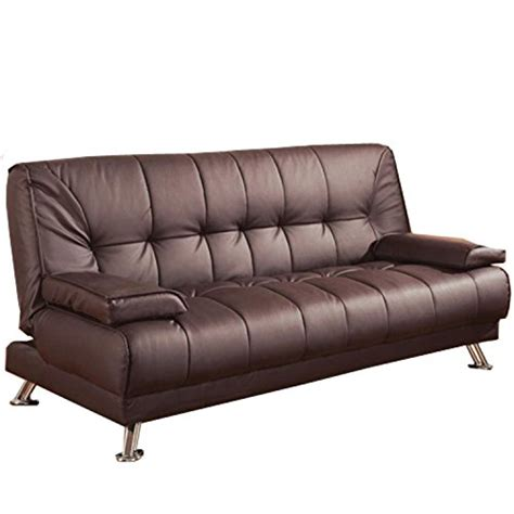 convertible sofa bed  removable armrests brown buy