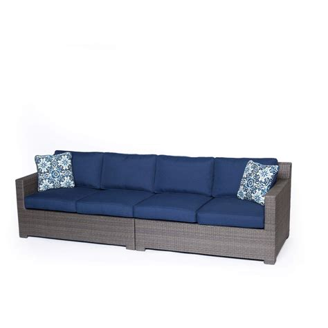 2 piece sofa set metropolitan 2 piece sofa set in navy blue with gray weave