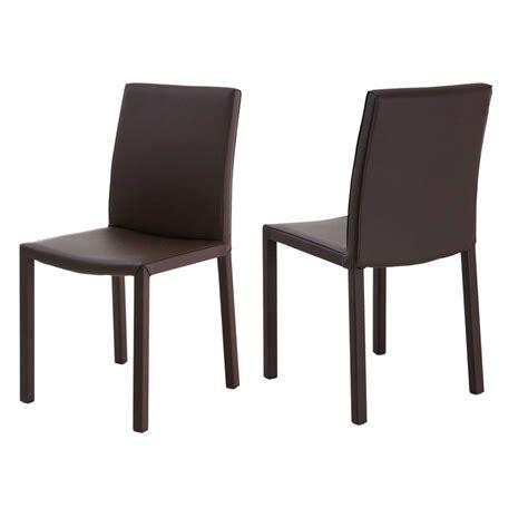 lot de 4 chaises lot de 4 chaises design marron kosyform