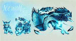 Ice Wolf With Wings