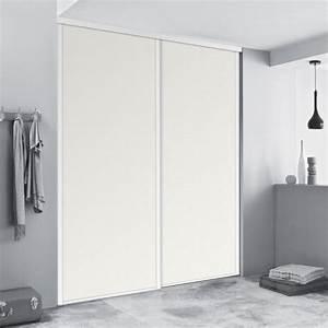 Porte Placard Coulissante Pas Cher : kazed fa ades de placards coulissantes blanches achat ~ Premium-room.com Idées de Décoration