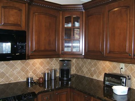 image of kitchen design simple square travertine tiles laid in a pattern 4616