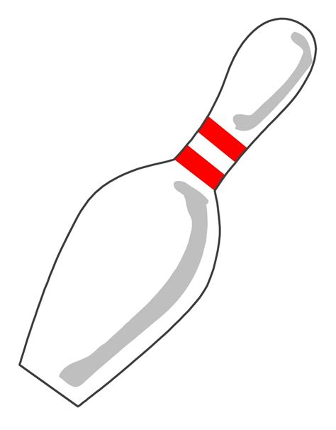 Bowling Pin Clipart Printable Bowling Pin Template Clipart Best