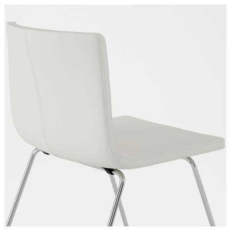 bernhard chair chrome plated mjuk white ikea