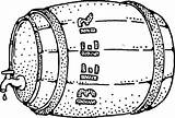Keg Beer Drawing Clip Clipart Clker Coloring Colouring sketch template