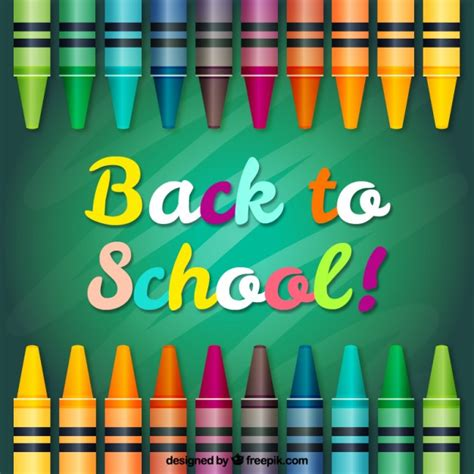 Back To School Backgrounds by Crayon Vectors Photos And Psd Files Free