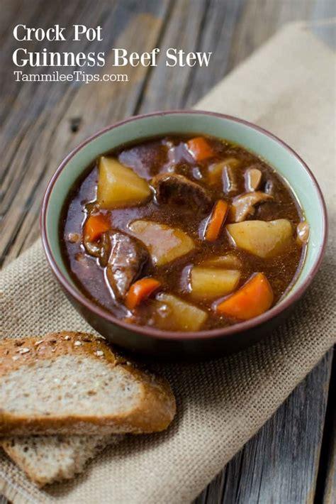 slow cooker crock pot guinness stew recipe tammilee tips