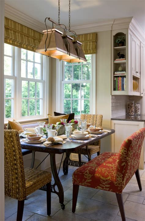 pretty breakfast nook bench  dining room traditional
