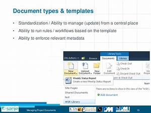Project document management with sharepoint for Document management system types