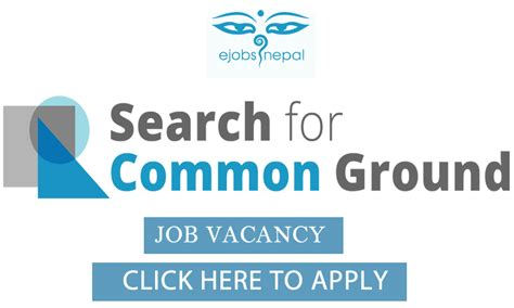 job vacancy in search for common ground job finder in nepal nepali job finder portal finds