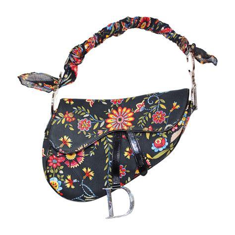 christian dior  john galliano floral saddle bag  stdibs