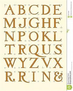 Alfabeto Romano Moderno Imagens de Stock Royalty Free Imagem: 20674999