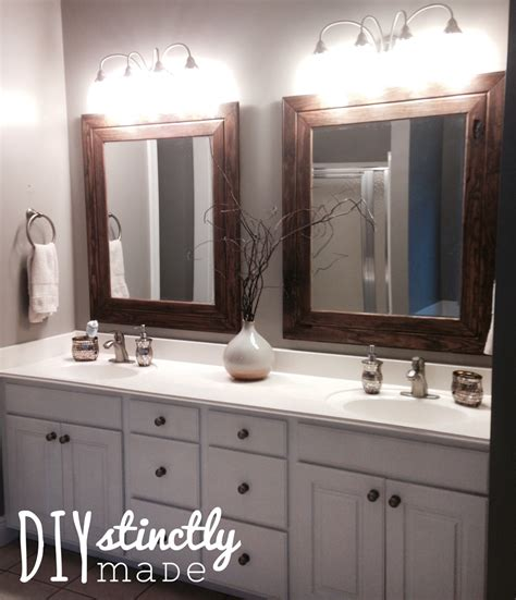 Master Bathroom Mirrors by Diy Easy Framed Mirrors Diystinctly Made