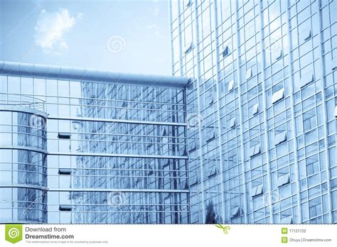modern glass curtain wall building stock photography