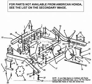 Honda Ds752a A Lawn Tractor  Usa Parts Diagram For Tandem