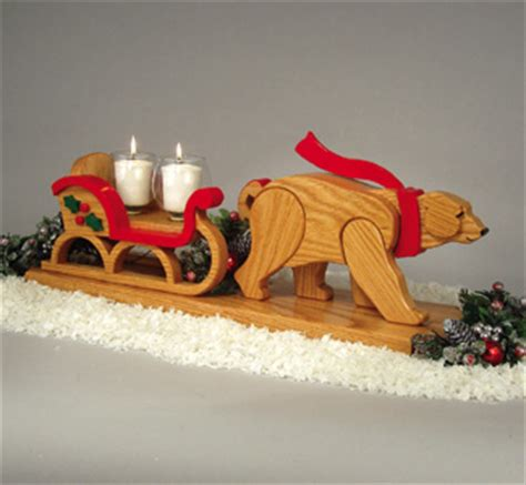 reindeer sleighs polar bear drawn sleigh woodcrafting plan