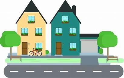 Clipart Row Neighbors Neighborhood Transparent Webstockreview